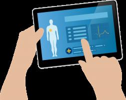 tablet met gegevens