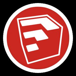 Het logo van Google Sketchup.