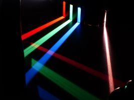 gekleurde lichtstralen