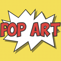 tekst pop art