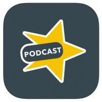 Logo Speaker: ster met podcast