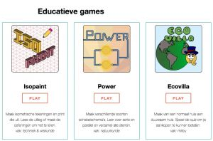 drie logo's van educatieve games