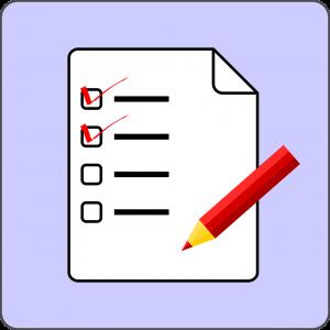 Lijst met vinkjes