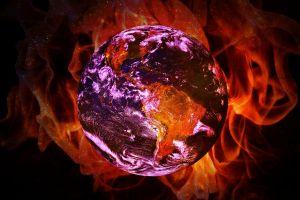 aarde die brandt