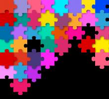 gekleurde puzzel