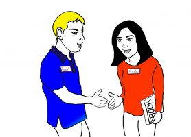 mensen schudden elkaar de hand