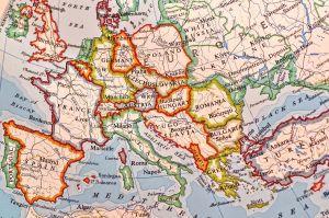 Een kaartweergave van Europa.