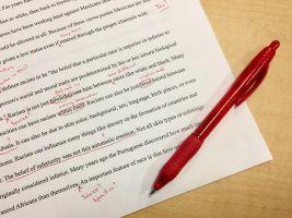 verbeteren met een rode pen