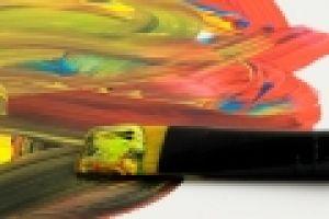 verfborstel in acrylverf