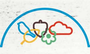 logo van Olympische Spelen met herfstafbeeldingen