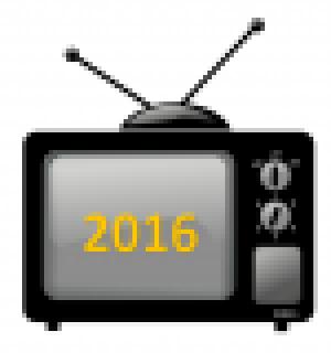 tv met 2016 op het scherm