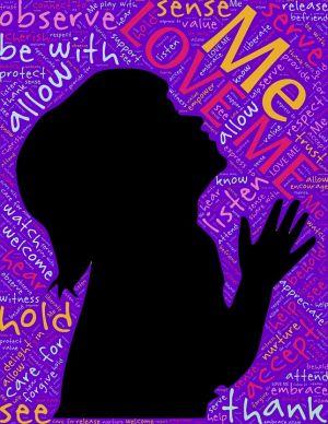 silhouette van een meisje