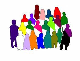 gekleurde figuurtjes (groep mensen)