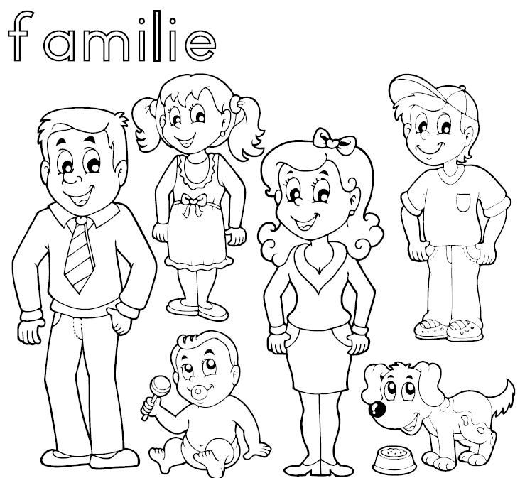 familie kleurplaat downloadbaar lesmateriaal klascement