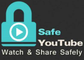 Het logo van Safe YouTube.