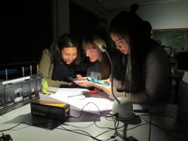 meisjes en wetenschappelijke apparatuur