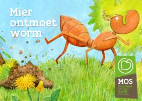 mier en een hoopje grond dat omhoog geduwd wordt