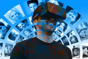 man met VR bril