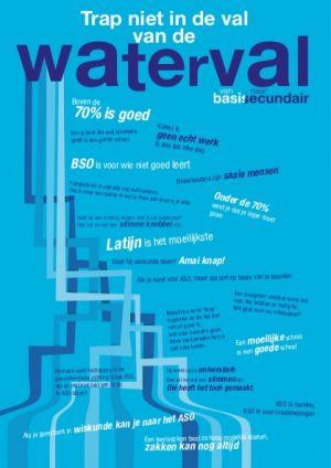 poster trap niet in de val van de waterval