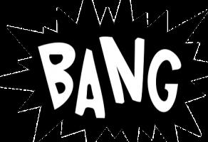 tekstballon met de tekst 'BANG'