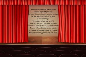 theatergordijn dat opengaat