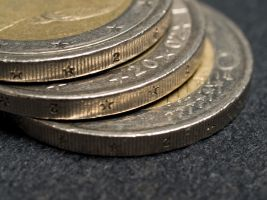 3 muntstukken van een euro