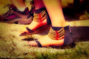 voeten van iemand die Indisch danst