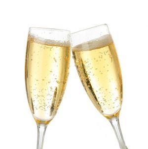 champagneglazen die klinken