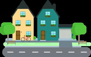 Twee huizen