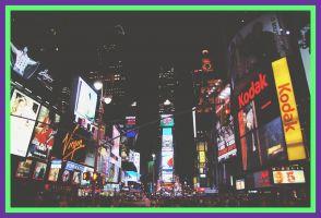 Beelden van Times Square