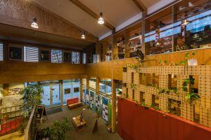 Een beeld van het Natuur- en Milieucentrum De Bourgoyen, een passiefhuis