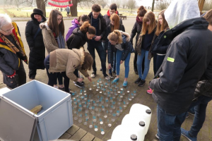 Pupils do a water assignment during World Water Week