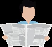 Man lest de krant