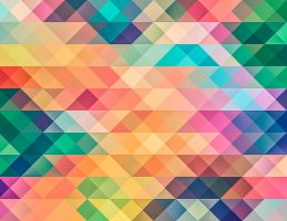 background of many colored triangles