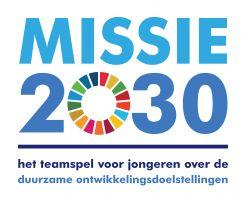 logo van het spel missie 2030, teamspel voor jongeren over de duurzame ontwikkelingsdoelstellingen