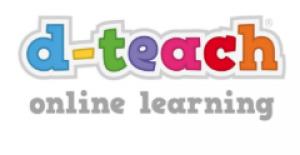 logo d-teach, letters in kleurtjes