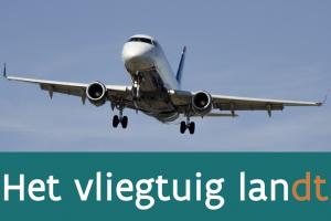 landing van een vliegtuig