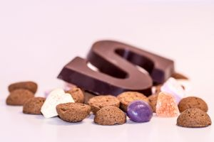 confectionery with the chocolate letter S