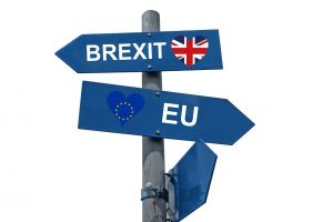 arrows with EU and Brexit