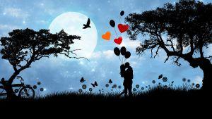 jongen en meisje kussen