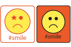 two sad smileys