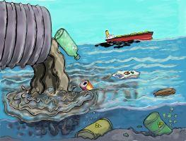 afval dat in water terecht komt