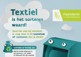affiche voor textielcontainers