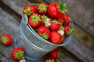 emmer met aardbeien