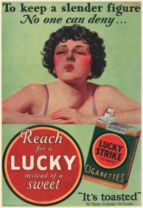 poster with smoking woman