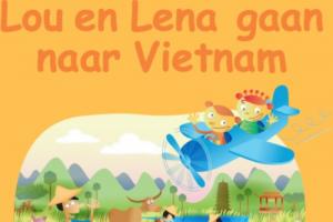 Cover van het lespakket 'Lou en Lena gaan naar Vietnam'