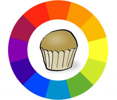 cake in color circle