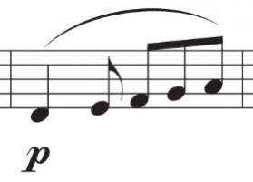 extract van de melodie uit de compositie
