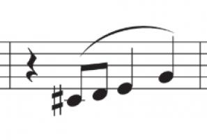 extract uit de melodie van de compositie