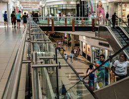 Roltrappen winkelcentrum